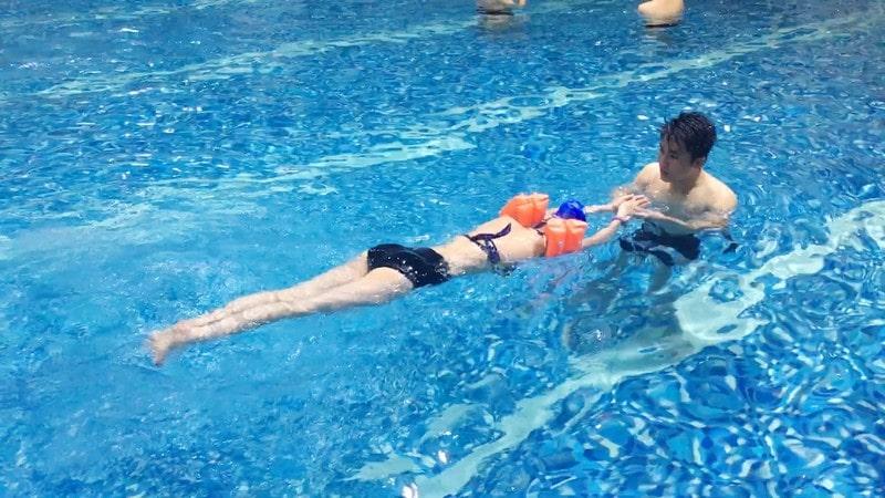 lớp học bơi mùa đông