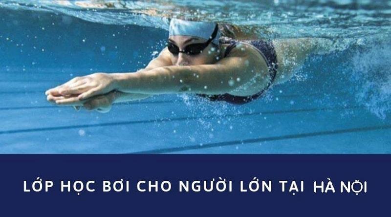 lớp học bơi người lớn tại Hà Nội