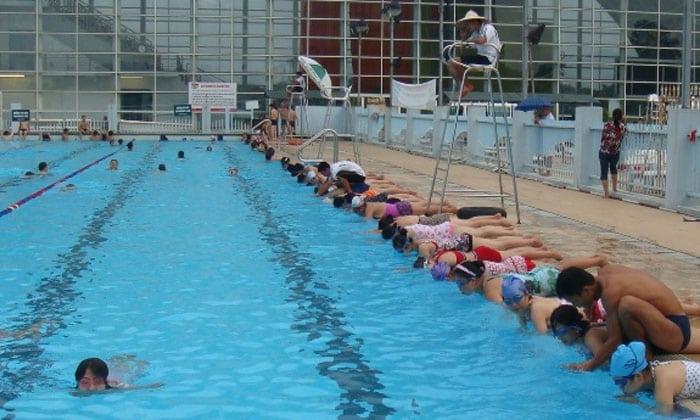 học bơi bể bơi thái hà